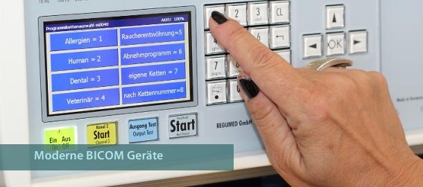 Neueste BICOM Bioresonanzgeräte in der Naturheilpraxis Gerhardt in Karlsruhe/Durlach